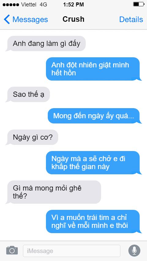Cách nhắn tin mật ngọt